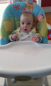 first time in high chair